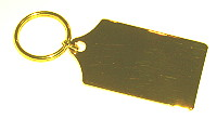 plated key fob