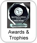 crystal awards, engraved awards, trophy, trophies, logo, personalised