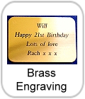 brass engraving, brass plaques, nameplates, engraved with your words