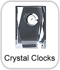 engraved clocks, crystal clocks