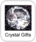 crystal gifts, engraved, clocks, ornaments, flask, book, ice bucket, wine cooler