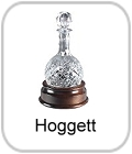 hoggett, hoggitt, hogget, crystal decanter on stand