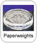 engraved paperweights, crystal paperweights with your text logo
