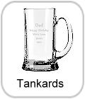 tankards, crystal tankards, engraved tankards