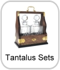 tantalus sets, decanters in wood case