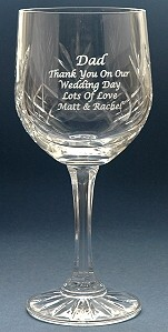 ENGRAVED COUNTY HAND CUT CRYSTAL GOBLET