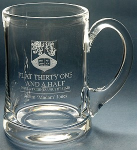 ENGRAVED BUCKINGHAM TANKARD