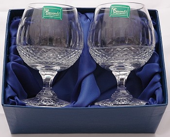 PAIR OF BRANDY GLASSES IN PRESENTATION BOX