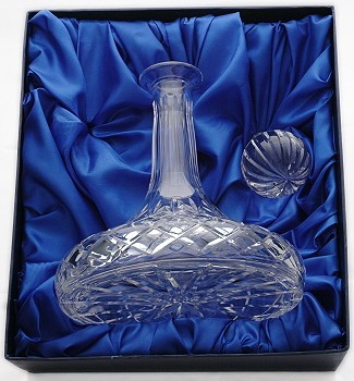 county ships decanter in presentation box