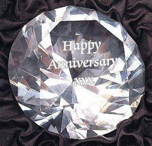 engraved crystal diamond