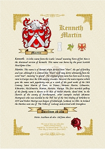 Colour crest on parchment style card