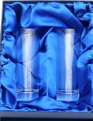 PAIR OF STERLING SLIM HIBALL GLASSES IN PRESENTATION BOX
