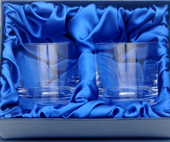 PAIR OFSTERLING WHISKY GLASSES IN PRESENTATION BOX