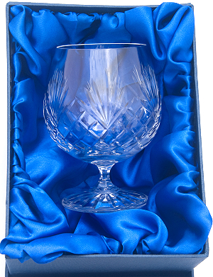 COUNTY HAND CUT CRYSTAL BRANDY GLASS IN PRESENTATION BOX