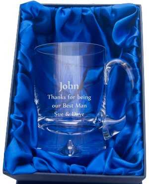 ENGRAVED BUBBLE TANKARD IN PRESENTATION BOX