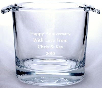 KINLOCH ICE BUCKET engraved with your words