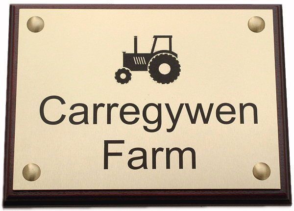 ENGRAVED PLAQUE HOUSE NAME SIGN, business sign, door sign