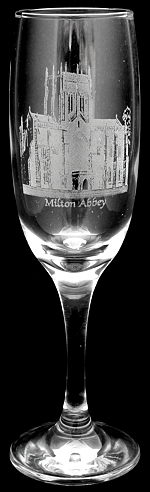 flute glass engraved with your photo