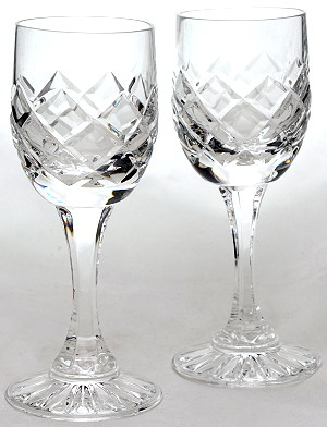 LISBON LIQUEUR PORT SHERRY GLASSES HAND CUT CRYSTAL
