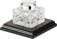 Crystal Inkwell on base