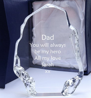 3 sizes ICEBERG award paperweight desktop gift for engraving with your words message