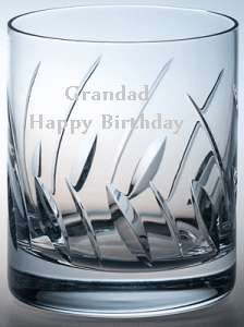 EXCLUSIVE HAND CUT CRYSTAL WHISKY GLASS FLARE DESIGN