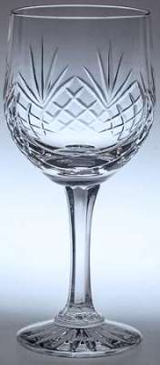 ENGRAVED HAND CUT COUNTY CRYSTAL GOBLET