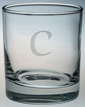WHISKY GLASS with 'C' engraved