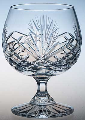 COUNTY HAND CUT CRYSTAL BRANDY GLASS