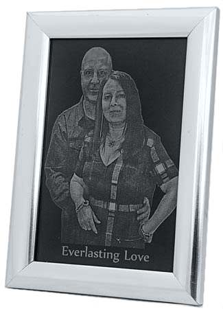your photo engraved Framed Picture