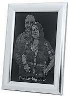 your photo engraved Picture Framed