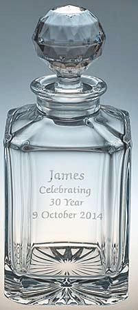 CRYSTAL DECANTER WITH ENGRAVING