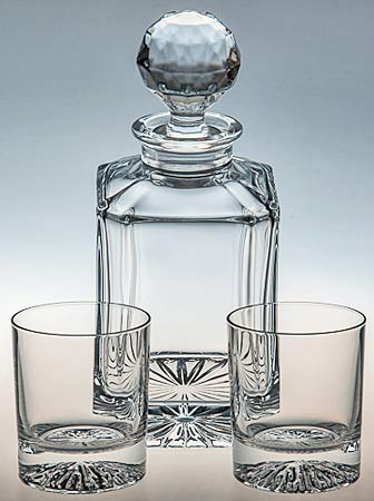 CRYSTAL DECANTER WITH ELGIN GLASSES SET