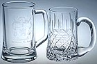 engraved tankards, crystal tankards, engraved pint glass