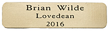 ENGRAVED BRASS PLAQUE 80X20mm