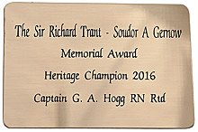 Engraved Jewellers Brass Plaque 80x55mm