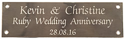 ENGRAVED BRASS PLAQUE 5 x 1 1/2 inches 130x40mm