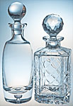 decanters, engraved decanters, crystal decanters