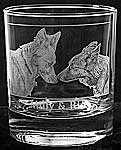 STERLING WHISKY glass engraved with your photo