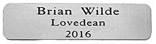 ENGRAVED silver colour PLAQUE 80X20mm