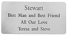 Engraved SILVER COLOUR Plaque 100x50mm