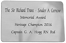 Engraved SILVER COLOUR Plaque 80x55mm